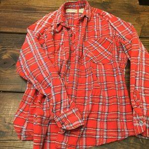 Vintage open trails flannel button up shirt S M